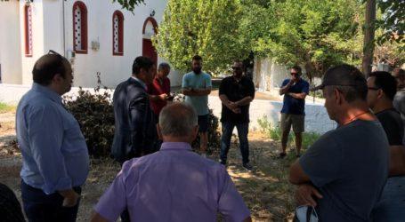 Αυτοψία Δούκα των καταστροφών στη Ν. Αγχίαλο με πρωτοβουλία Τριαντόπουλου