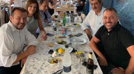 Στο Μοσχάτο για ψαράκι Μεϊκόπουλος, Πολάκης, Σπίρτζης, Παππάς και Νοτοπούλου