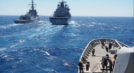 Εντυπωσιακές εικόνες από την συνεκπαίδευση του Πολεμικού Ναυτικού και της SNMG2 στο κεντρικό Αιγαίο