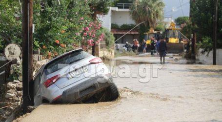 Η «Θάλεια» έριξε 300 χιλιοστά βροχής σε οκτώ ώρες στη Στενή Ευβοίας