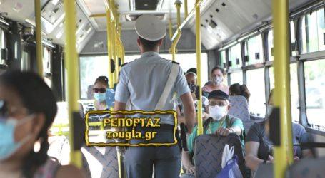 Συνεχίζονται οι έλεγχοι για τη χρήση μάσκας στα Μέσα Μαζικής Μεταφοράς