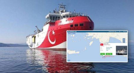 Εκπέμπει και πάλι το δορυφορικό σήμα του Oruc Reis