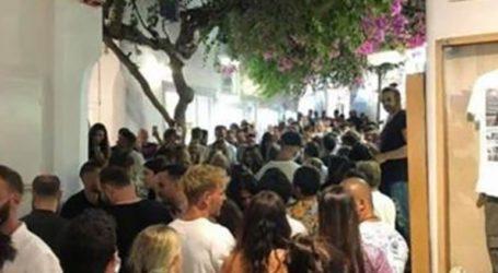 Συνωστισμός στη Μύκονο το βράδυ της επιβολής των νέων μέτρων για τα μπαρ