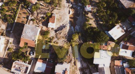 Κρανίου τόπος τα Πολιτικά Ευβοίας μετά τις πλημμύρες – Εικόνες από Drone