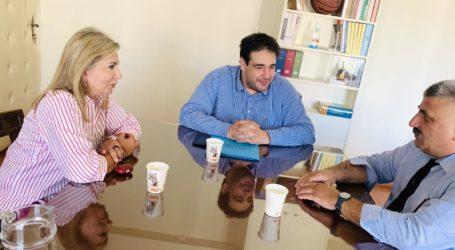 Συνάντηση της Ζέττας Μ. Μακρή με τον Υφυπουργό Εσωτερικών Θ. Λιβάνιο για θέματα του Δήμου Νοτίου Πηλίου