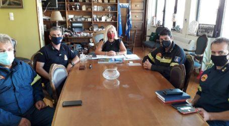 Η ηγεσία της Πυροσβεστικής στην Δωροθέα Κολυνδρίνη