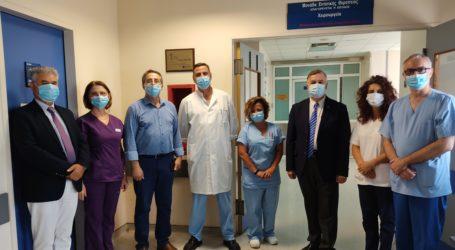 Βόλος: Αντιμικροβιακός χαλκός στη ΜΕΘ του Νοσοκομείου
