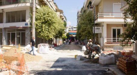 Δήμος Λαρισαίων: Ξεκίνησαν και πάλι οι εργασίες στις οδούς Καλλιάρχου και Γιαννιτσών