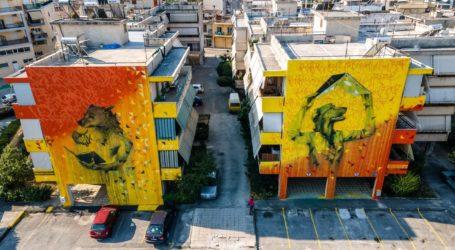 Βόλος: Δίπτυχο τοιχογραφιών αφιερωμένο στα αδέσποτα