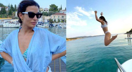 Τόνια Σωτηροπούλου: Εξόρμηση με σκάφος στις Σπέτσες μαζί με τον Κωστή Μαραβέγια και φίλους!