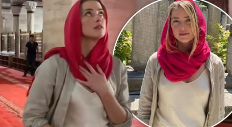 Η εμφάνιση της Amber Heard χωρίς σουτιέν σε τζαμί στην Τουρκία που προκάλεσε αντιδράσεις