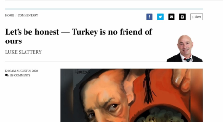 Αιχμηρό σκίτσο κατά Ερντογάν στην Αυστραλία