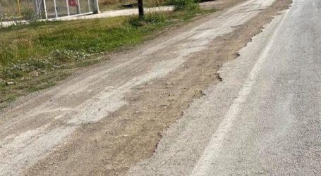 Σκαμμένος δρόμος καρμανιόλα στην είσοδο της Αγιάς – Τον «παράτησαν» έτσι για εβδομάδες (φωτο)