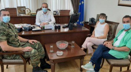 Επίσκεψη του νέου Διοικητή του ΚΕΟΑΧ στο Δήμαρχο Ελασσόνας