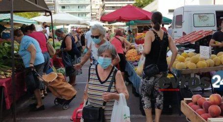 Βόλος: «Βροχή» τα πρόστιμα για μάσκα στη λαϊκή αγορά της Ν. Ιωνίας
