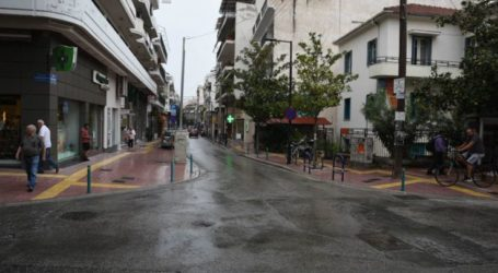 """Μπόρα στη Λάρισα – Απροετοίμαστοι """"πιάστηκαν"""" οι Λαρισαίοι (φωτο)"""