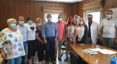 Συναντήσεις του Κων. Μαραβέγια με τον διοικητή της 5ης ΥΠΕ, τη διοίκηση και το προσωπικό του Νοσοκομείου Βόλου