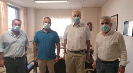 Συναντήσεις του Κων. Μαραβέγια στο Πανεπιστημιακό Νοσοκομείο με την διοίκηση και τον πρόεδρο της Ιατρικής Σχολής