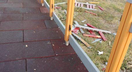 Λάρισα: Εκτεταμένοι βανδαλισμοί στο Πάρκο των Χρωμάτων (φωτο)