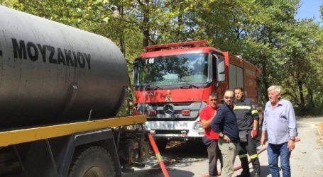 Υπό πλήρη έλεγχο η φωτιά στο Παλαιοχώρι Οξυάς του δήμου Μουζακίου