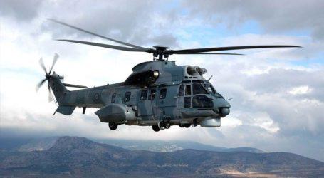 Με ελικόπτερο super puma η διάσωση άνδρα στο Ξηροβούνι