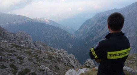 Επιχείρηση διάσωσης πεζοπόρου στην ορεινή Γκιώνα