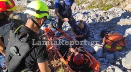 Καρέ-καρέ η επιχείρηση διάσωσης τραυματία πεζοπόρου στο Ξηροβούνι Ευβοίας