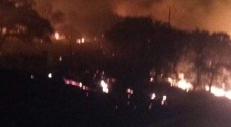 Σε εξέλιξη πυρκαγιά στη Λέσβο