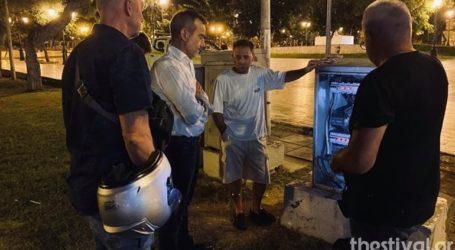 Άγνωστοι προκάλεσαν συσκότιση στην πλατεία δικαστηρίων