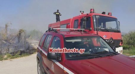 Φωτιά σε ξερά χόρτα στο Βραχάτι