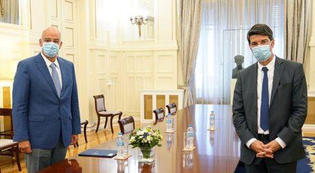 Συνάντηση Ν. Δένδια με τον Γάλλο πρέσβη