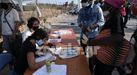 Συνεχίζεται η εγκατάσταση προσφύγων/μεταναστών σε νέο χώρο στη Λέσβο