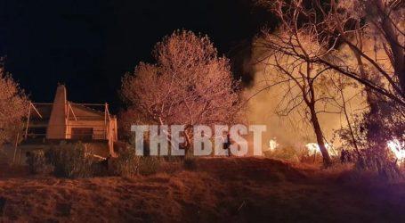 Μεγάλη φωτιά στην Πάτρα – Οι φλόγες πλησιάζουν σπίτι