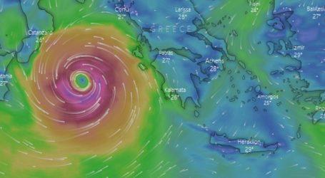 Παρακολουθήστε LIVE τη πορεία του κυκλώνα «Ιανός»