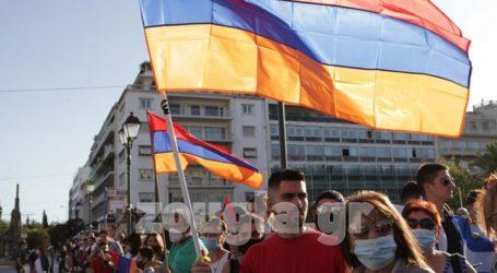 Συγκέντρωση διαμαρτυρίας Αρμενίων στο Σύνταγμα
