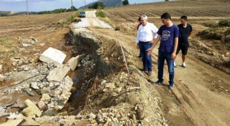 Χαρακόπουλος στα Φάρσαλα ενόψει ψήφισης των μέτρων για πληγέντες: Καταστροφές και σε γέφυρες και οδικό δίκτυο