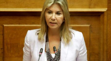 Ζέττα Μακρή στην Ολομέλεια:  Τον «Ιανό» δεν θα πρέπει να τον ακολουθήσει τυφώνας αντεγκλήσεων και κατηγοριών