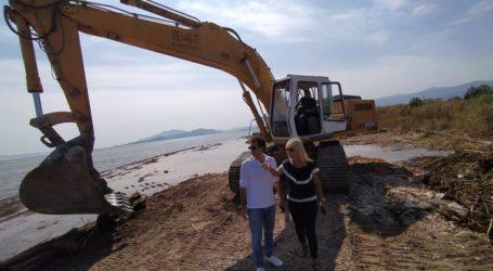 Σε Νέα Αγχίαλο και Αιδίνιο ο Αργύρης Κοπάνας – Σε πλήρη εξέλιξη οι εργασίες αποκατάστασης