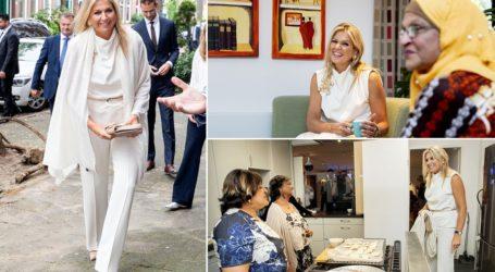 Επιτομή της κομψότητας η βασίλισσα Maxima με total white look σε φιλανθρωπικό event