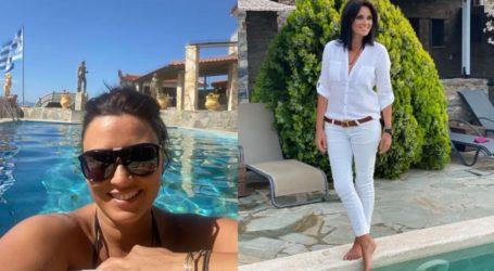 Γιώτα Τριγώνη: Διακοπές στα ελληνικά νησιά για την επικεφαλής τουρισμού και τον Ιταλό σύζυγό της
