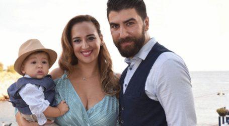 H Κλέλια Πανταζή και ο Λευτέρης Τσάκαλος βάφτισαν τον γιο τους