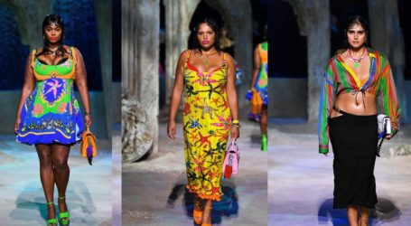 Plus size μοντέλα έκαναν το ντεμπούτο τους στο catwalk της Donatella Versace