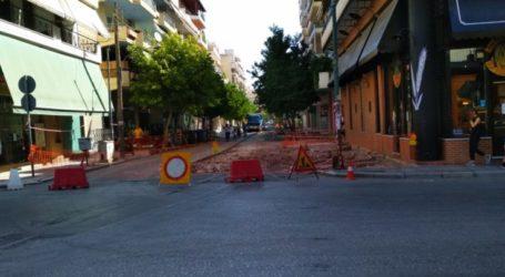 Ξεκίνησαν τα έργα στην οδό Ιουστινιανού στη Λάρισα (φωτο)