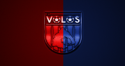 thumb2 volos fc greek football club super league greece red blue logo red blue carbon fiber background