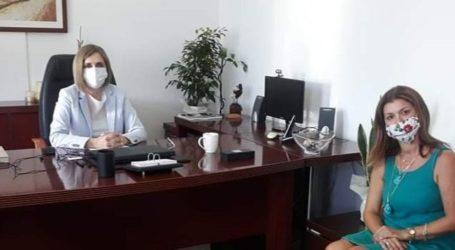 Στην Διευθύντρια της Α'θμιας Εκπαίδευσης Λάρισας η Χρ. Βουλγαράκη