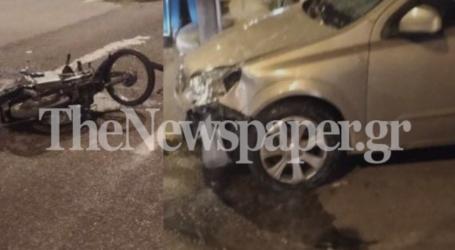 Tροχαίο ατύχημα με έναν τραυματία στον Βόλο – Δείτε εικόνες