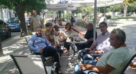 Συνάντηση βουλευτών του ΣΥΡΙΖΑ Μαγνησίας με τον Πρόεδρο της Ένωσης Υπαλλήλων ΟΑΕΔ Κεντρικής Ελλάδος