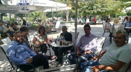 Βόλος: Συνάντη βουλευτών ΣΥΡΙΖΑ με την Ένωση Υπαλλήλων ΟΑΕΔ