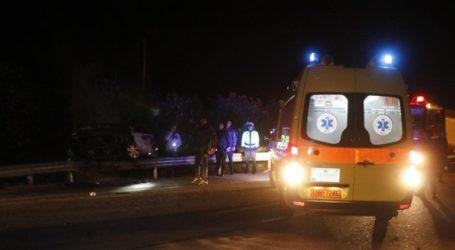 Θανατηφόρο τροχαίο στην Εθνική Οδό Θεσσαλονίκης