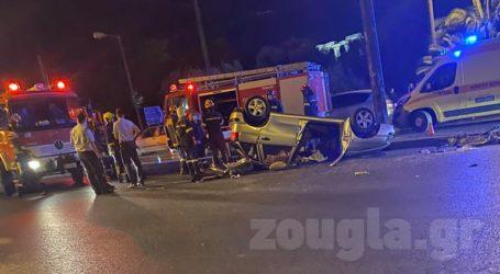 Σοβαρό τροχαίο με τρεις τραυματίες στη λεωφόρο Βασιλίσσης Αμαλίας